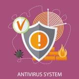 Antivirus system ilustracji