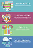 Antivirus system, chmura oblicza, statystyki Obrazy Royalty Free