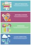 Antivirus system, chmura oblicza, statystyki royalty ilustracja