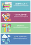 Antivirus system, cloud computing, statistics Stock Photography