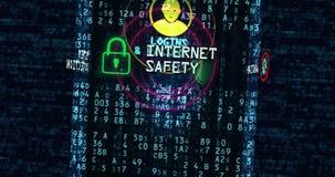 Antivirus van de Cyberveiligheid concept royalty-vrije illustratie