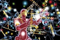 antivirusrobot vektor illustrationer