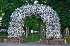 Antler Arch in Jackson Hole, Wyoming Stock Image