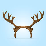 Antler on blue background Stock Images