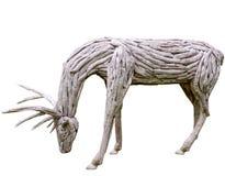 Antlers della renna fatti da legno Fotografia Stock Libera da Diritti