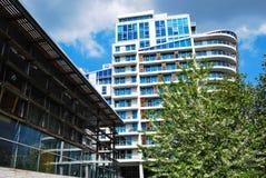 Antlitz-Wohnungen, Schweizer Häuschen, London Stockfotos