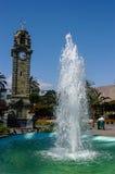 Antofagasta, Chile Sudamerica. Antofagasta Chile. Water fountain and clock tower in the main square of the city of Antofagasta Chile stock image