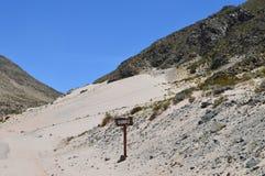 Antofagasta de la Toppig bergskedja Arkivfoton