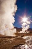 antofagasta gejzerów wschód słońca tatio Obraz Stock