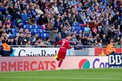 Antoine Griezmann-spelen bij de gelijke van La Liga tussen RCD Espanyol en Atletico DE Madrid Royalty-vrije Stock Afbeeldingen