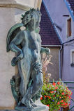Antoine Perrenot de Granvelle Statue i Ornans royaltyfria bilder