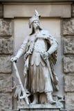 Anton Brenek: Polish. On the facade of the Neuen Burg on Heldenplatz in Vienna, Austria Royalty Free Stock Image