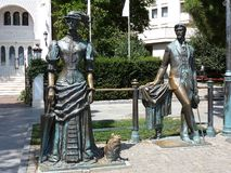 Anton Chekhov και η κυρία με το σκυλί Στοκ Εικόνες