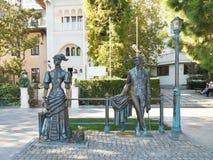 Anton Chekhov και η κυρία με το σκυλί, Yalta Στοκ Φωτογραφία