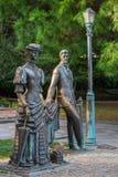 Anton Chekhov και κυρία με το σκυλί - μνημείο που αφιερώνεται στο ρωσικό συγγραφέα Chekho Στοκ φωτογραφία με δικαίωμα ελεύθερης χρήσης