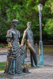 Anton Chekhov e senhora com cão - o monumento dedicou ao escritor Chekho do russo Fotografia de Stock Royalty Free