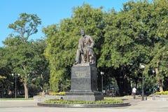 Anton Chekhov Monument i Taganrog, Ryssland arkivbilder