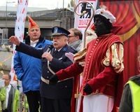 Anton Cogen and Zwarte Piet Royalty Free Stock Photography