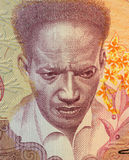 Anton de Kom. On 100 Gulden 1988 Banknote from Suriname. Resistance fighter and anti-colonialist author Stock Photo