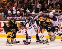 Anton Lander Edmonton Oilers Arkivfoto