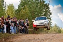 Anton Nabokoc drives a Renault Clio Royalty Free Stock Photo