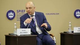 Anton Siluanov stock video footage