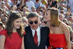 Anton Tabakov και η σύζυγος και η κόρη του Στοκ φωτογραφία με δικαίωμα ελεύθερης χρήσης