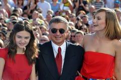 Anton Tabakov και η σύζυγος και η κόρη του Στοκ Εικόνα