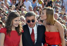Anton Tabakov and his wife and daughter Royalty Free Stock Photography