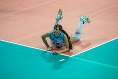Antonella Del Kore (Dynamo (KZN) 15. MOSCOW, RUSSIA - DECEMBER 2: Antonella Del Kore (Dynamo (KZN) 15, while playing on women's Rissian volleyball Championship Stock Photo