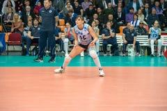 Antonella Del Kore (Dynamo (KZN) 15. MOSCOW, RUSSIA - DECEMBER 2: Antonella Del Kore (Dynamo (KZN) 15, while playing on women's Rissian volleyball Championship Stock Images