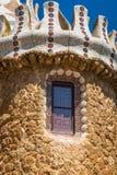 1900 1914 antoni byggda barcelona planlade den berömda gaudiguellparken spain till år Royaltyfri Fotografi