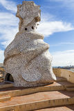 Antoni Gaudì's sculpture - La Pedrera Stock Photo