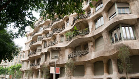 Antoni Gaudi's Casa Mila Barcelona Royalty Free Stock Photography