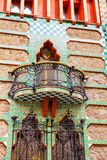 Antoni Gaudi`s designed Vicens House. BARCELONA - MARCH, 2018: Antoni Gaudi`s designed Vicens House in Barcelona, Spain Royalty Free Stock Photo