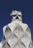Antoni Gaudi's La Casa Mila Chimney Royalty Free Stock Photo