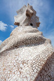 Antoni Gaudi's work at the roof of Casa Mila Royalty Free Stock Photo