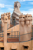 Antoni Gaudi's work at the roof of Casa Mila Stock Photo
