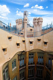 Antoni Gaudi's work at the roof of Casa Mila Royalty Free Stock Image