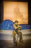 Antoni Gaudi-standbeeld Stock Foto