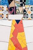 Antoni Gaudi typical mosaic. Typical mosaic of pieces of Antoni Gaudi Royalty Free Stock Image