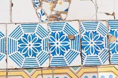 Antoni Gaudi typical mosaic Royalty Free Stock Photos