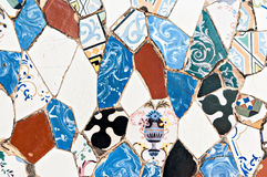 Antoni Gaudi typical mosaic Stock Image