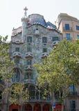 Antoni Gaudis berömd Casa Batllo i Barcelona Arkivfoto