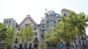 Antoni Gaudis famous Casa Batllo in Barcelona Stock Photography