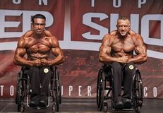 Wheelchair Bodybuilding Finalists Posedown at 2018 Toronto Pro Supershow royalty free stock photo