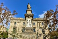 Antoni Lopez ι μνημείο του Lopez - Βαρκελώνη Στοκ φωτογραφία με δικαίωμα ελεύθερης χρήσης