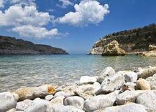 Antoni Queen beach at Rodos island Stock Photo