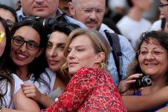 ANTONIA LISKOVA AL FESTIVAL CINEMATOGRAFICO 2016 DI GIFFONI Fotografia Stock Libera da Diritti
