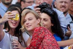 ANTONIA LISKOVA AL FESTIVAL CINEMATOGRAFICO 2016 DI GIFFONI Immagini Stock
